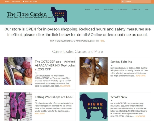 The Fibre Garden website