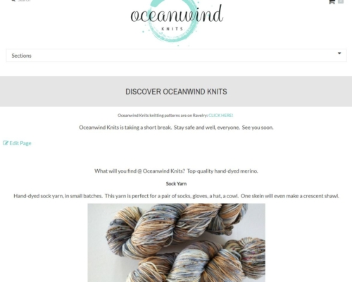 Oceanwind Knits website